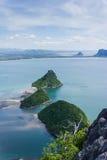 Meer sieht Prachuap-Bucht an Stockbild