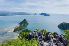 Meer sieht Prachuap-Bucht an Lizenzfreie Stockbilder