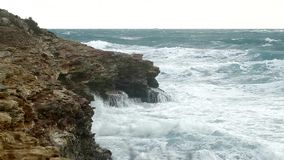Am Meer, am Sturm und am Wind stock video footage