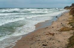 Meer, Sturm, Wellen, Stürme, Sturm, Wirbelsturm, baltisch Lizenzfreie Stockfotos
