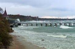 Meer, Sturm, Wellen, Stürme, Sturm, Wirbelsturm, baltisch Stockfoto
