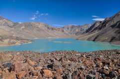 Meer in Tadzjikistan royalty-vrije stock afbeelding