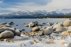Meer Tahoe Californië stock foto's