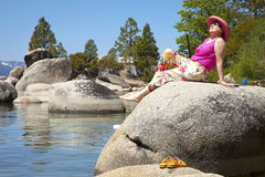 Meer Tahoe, Californië. Royalty-vrije Stock Foto
