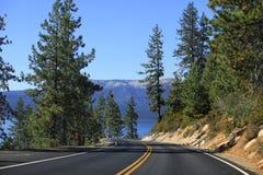 Meer Tahoe Emerald Bay Road stock afbeelding