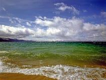 Meer Tahoe met stormachtige wolken royalty-vrije stock afbeeldingen