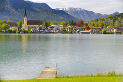 Meer Tegernsee in Beieren Stock Foto