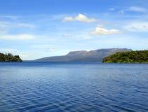 Meer Tikitapu (Blauw Meer), Rotorua, Nieuw Zeeland Stock Foto's