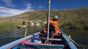 Meer Titicaca in Bolivië Stock Afbeelding
