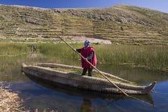 Meer Titicaca in Bolivië Stock Foto