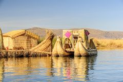 Meer Titicaca, Peru stock fotografie