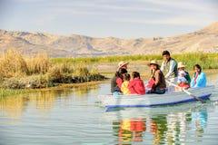 Meer Titicaca, Peru royalty-vrije stock fotografie
