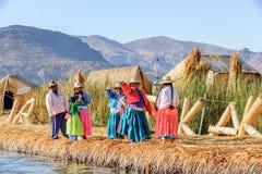 Meer Titicaca, Peru stock afbeelding