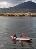 Meer Titicaca in Peru royalty-vrije stock afbeelding
