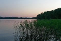 Meer in Trakai, Litouwen royalty-vrije stock afbeeldingen