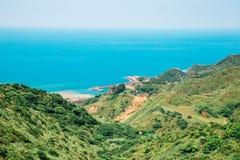Meer und Berg Jinguashi Yinyanghai in Taiwan lizenzfreies stockbild