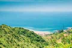 Meer und Berg Yinyanghai in Jinguashi, Taiwan lizenzfreie stockbilder
