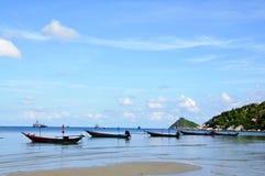 Meer und Boote Stockbild