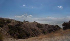 Meer und Landschaft in Zypern Stockfotos