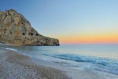 Meer und Sonnenuntergang lizenzfreies stockfoto
