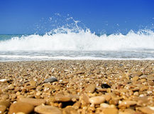 Meer-und Strandkiesel Lizenzfreies Stockfoto