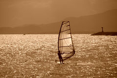 Meer und Surfen stockfoto