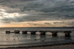 Meer und Wolke Lizenzfreie Stockbilder