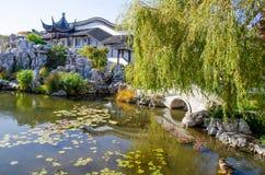 Meer van de Chinese Tuin van Dunedin in Nieuw Zeeland Royalty-vrije Stock Afbeelding