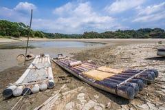 Meer van Dromen, een kleine maar mooie vissersdiehaven in Wushantou-Reservoir, Guantian, Tainan wordt gevestigd royalty-vrije stock foto's