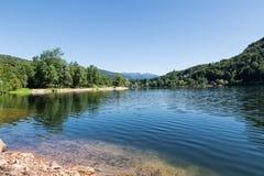 Meer van Ghirla, Valganna, provincie van Varese - Italië Stock Afbeelding
