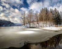 Meer van het Hout - de winterlandschap Royalty-vrije Stock Foto
