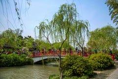 Meer van het Yangzhou het Slanke Westen op de panchiaopan van de tuinwaterkant Stock Foto
