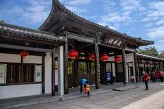 Meer van het Yangzhou het Slanke Westen op de tuindeur Stock Foto's
