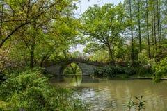 Meer van het Yangzhou het Slanke Westen op de tuinwaterkant Stock Afbeeldingen