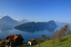 Meer van Luzerne Stock Fotografie