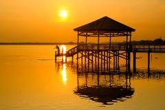 Meer van Phi Chit-het noorden van Thailand Royalty-vrije Stock Afbeeldingen