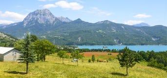 Meer van serre-Poncon (Franse Alpen) Royalty-vrije Stock Foto
