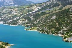 Meer van serre-Poncon (Franse Alpen) Royalty-vrije Stock Afbeeldingen