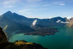 Meer van vulkaan Stock Afbeeldingen