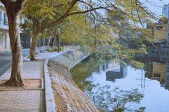 Meer, Vietnam, de mooie winter, het leven, streetlife Stock Foto's