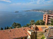 Meer von Sizilien, Taormina, Italien Stockfotos