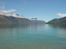 Meer Wakatipu, Nieuw Zeeland Stock Foto's