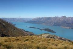 Meer Wakatipu, Nieuw Zeeland Stock Afbeeldingen