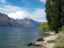 Meer Wakatipu, Queenstown, Nieuw Zeeland Royalty-vrije Stock Foto