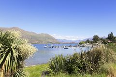 Meer Wanaka Nieuw Zeeland royalty-vrije stock afbeelding