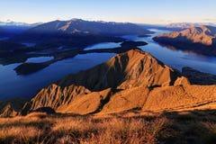 Meer Wanaka, Nieuw Zeeland royalty-vrije stock afbeelding
