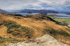Meer Wanaka, Nieuw Zeeland stock afbeeldingen