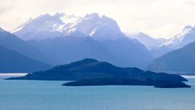 Meer Wanaka, Nieuw Zeeland stock foto's