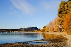 Meer Wanaka, Nieuw Zeeland Stock Afbeelding