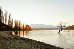 Meer Wanaka, Nieuw Zeeland Royalty-vrije Stock Fotografie